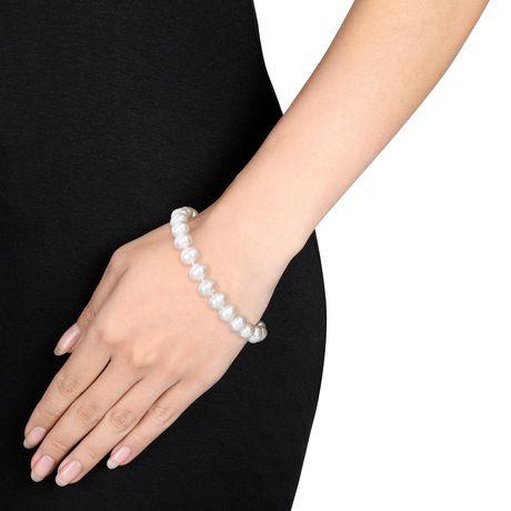 Bracelet Miabella avec Perles cultivées d'eau douce 7,5-8mm en argent sterling, 7,5 po - image 4 de 5