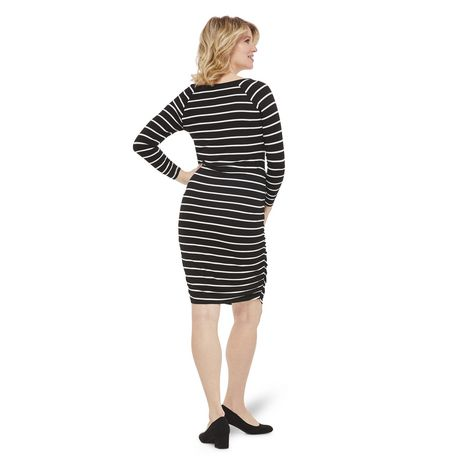George Maternity Striped Shirred Elbow Sleeve Dress - image 3 of 6