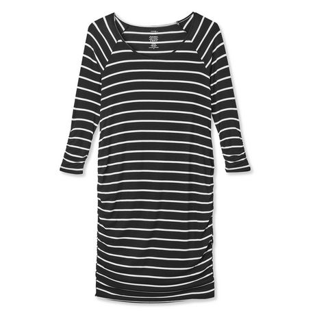 George Maternity Striped Shirred Elbow Sleeve Dress - image 6 of 6