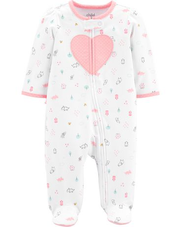 fb6dbd149 Child of Mine made by Carter's Newborn girls' Sleep N Play Outfit - heart  ...