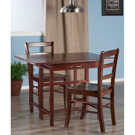 Winsome Taylor 3 Piece Set Drop Leaf Table With Ladder