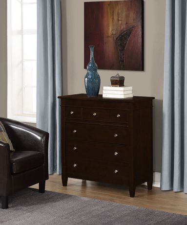 Sterling commode tiroirs pour chambre coucher for Chambre a coucher walmart