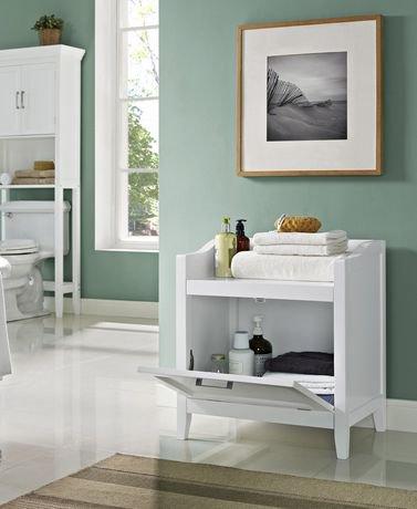 hayes banc de rangement avec panier walmart canada. Black Bedroom Furniture Sets. Home Design Ideas
