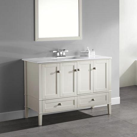 windham meuble lavabo 48 po avec dessus en marbre blanc walmart canada. Black Bedroom Furniture Sets. Home Design Ideas