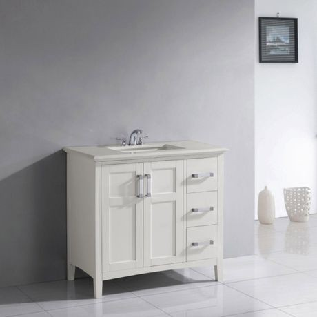 Salem 36 Bath Vanity With Quartz Marble Top Walmart Canada