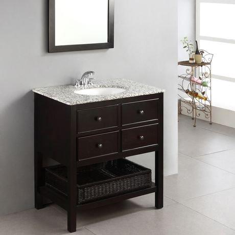new haven meuble lavabo 30 po avec dessus en granit gris tachet walmart canada. Black Bedroom Furniture Sets. Home Design Ideas