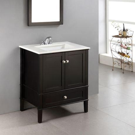 windham meuble lavabo 30 po avec dessus en marbre blanc walmart canada. Black Bedroom Furniture Sets. Home Design Ideas