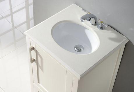 Hartford 20 Bath Vanity With White Quartz Marble Top Walmart Canada