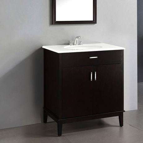 Oxford 30 Bath Vanity With Quartz Marble Top Walmart Canada