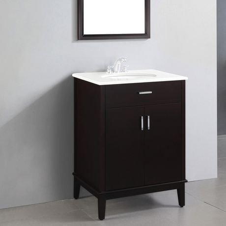oxford meuble lavabo 24 po avec dessus en marbre walmart canada. Black Bedroom Furniture Sets. Home Design Ideas