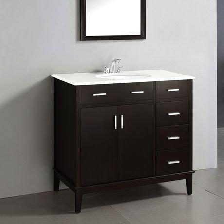 oxford meuble lavabo 36 po avec dessus en marbre walmart canada. Black Bedroom Furniture Sets. Home Design Ideas