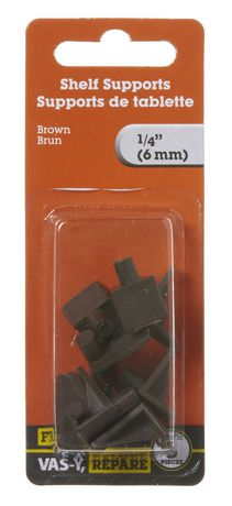 Supports de tablettes1/4 po brun 8 pièces - image 1 de 2