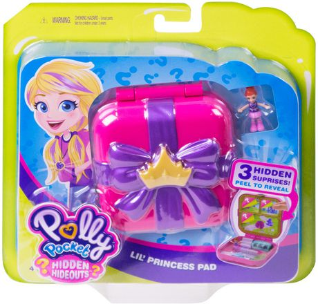 Polly Pocket Hidden Hideouts Lil/' Princess Pad with Micro Lila Doll
