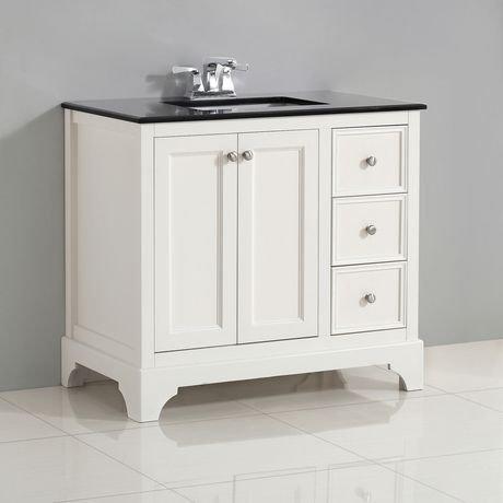 carlyle meuble lavabo 36 po avec dessus en granit noir walmart canada. Black Bedroom Furniture Sets. Home Design Ideas