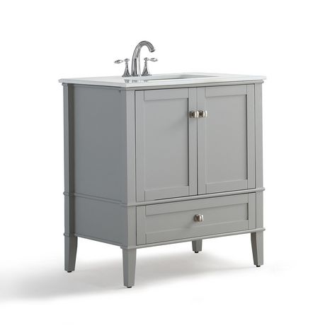 "WyndenHall Windham 30"" Bath Vanity with White Quartz Marble Top - image 1 of 5"