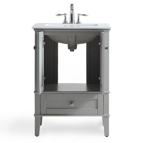 windham meuble lavabo 24 po avec dessus en marbre blanc walmart canada. Black Bedroom Furniture Sets. Home Design Ideas