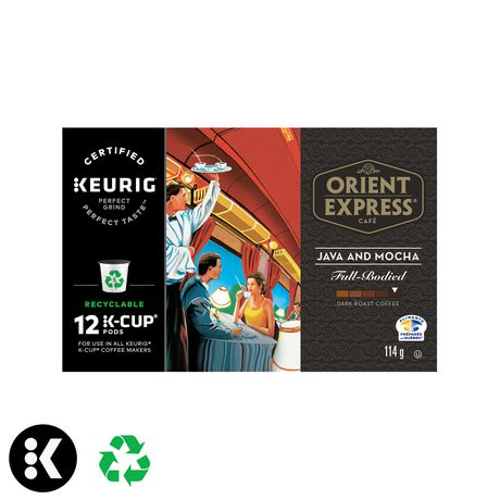 Keurig® Orient Express® Java & Mocha Full Bodied Dark Roast Recyclable K-Cup® PODS - image 1 of 3