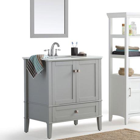 "WyndenHall Windham 30"" Bath Vanity with White Quartz Marble Top - image 2 of 5"