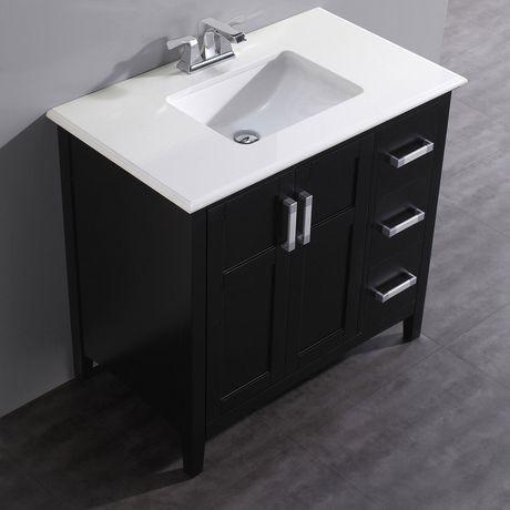 salem meuble lavabo 36 po avec dessus en marbre walmart canada. Black Bedroom Furniture Sets. Home Design Ideas