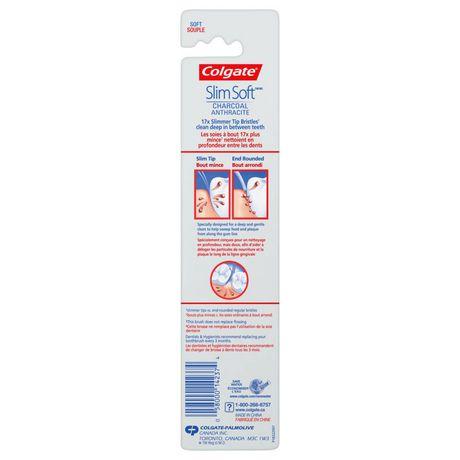 Colgate Slim Soft Charcoal Toothbrush 17x Slimmer Tip Soft Bristles - image 4 of 4