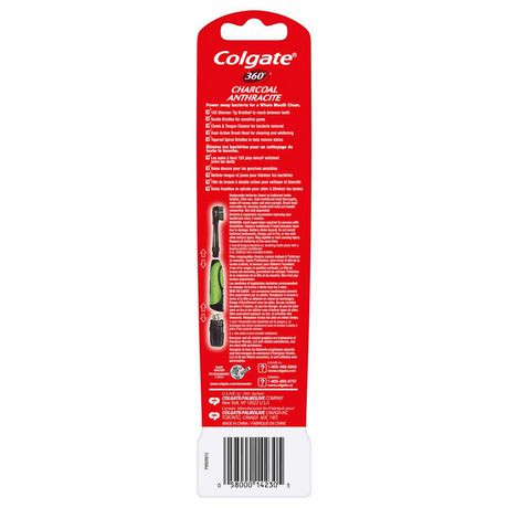 Colgate 360° Battery Powered Charcoal Toothbrush, Soft - image 4 of 4