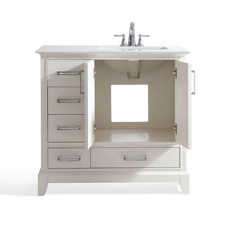 atwood meuble lavabo 36 po avec dessus en marbre blanc de bombay walmart canada. Black Bedroom Furniture Sets. Home Design Ideas