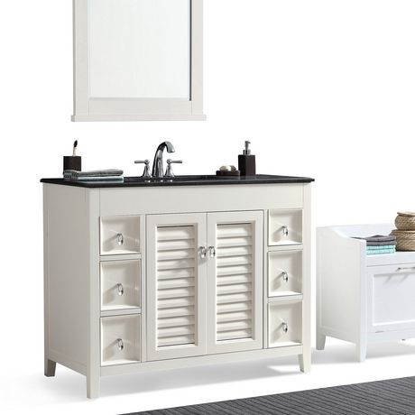 Palmer 42 Bath Vanity With Black Granite Top Walmart Canada