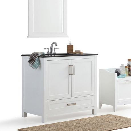 Jersey 36 Bath Vanity With Black Granite Top Walmart Canada