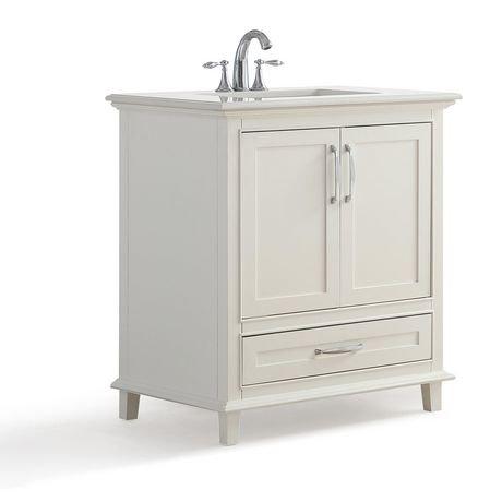 Newton 30  Bath Vanity with Bombay White Quartz Marble Top   Walmart caNewton 30  Bath Vanity with Bombay White Quartz Marble Top  . Bathroom Cabinets Walmart Ca. Home Design Ideas