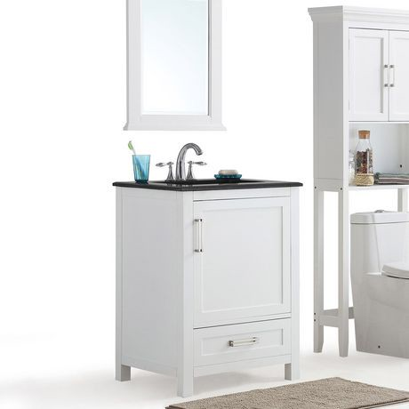 jersey meuble lavabo 24 po avec dessus en granit noir. Black Bedroom Furniture Sets. Home Design Ideas