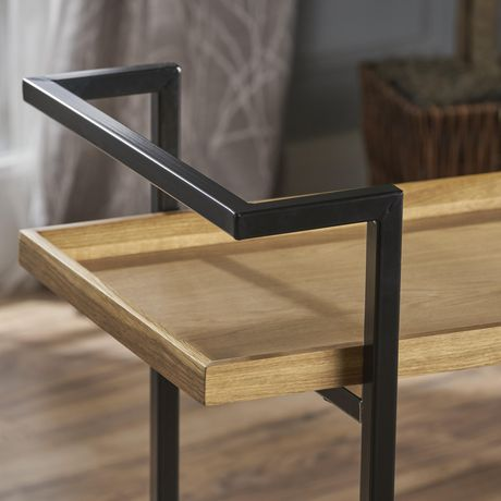 Gerard Industrial Natural Finished Wooden Bar Cart - image 6 of 6