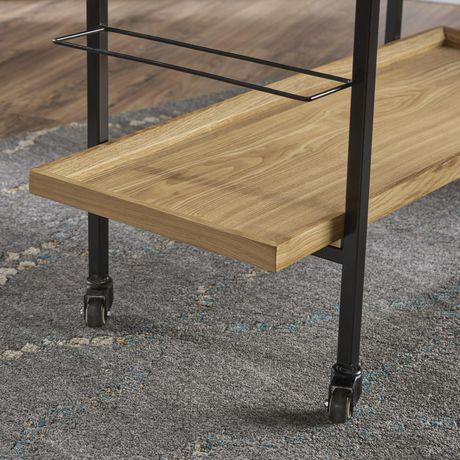 Gerard Industrial Natural Finished Wooden Bar Cart - image 4 of 6