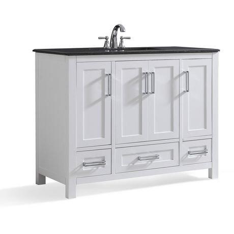 Jersey 42 bath vanity with black granite top walmart canada - Bathroom vanity black marble top ...