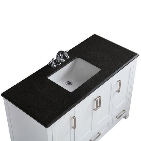 jersey meuble lavabo 48 po avec dessus en granit noir walmart canada. Black Bedroom Furniture Sets. Home Design Ideas