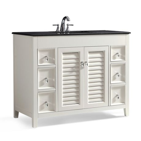 Miraculous Wyndenhall Palmer 42 Bath Vanity With Black Granite Top Home Interior And Landscaping Ologienasavecom