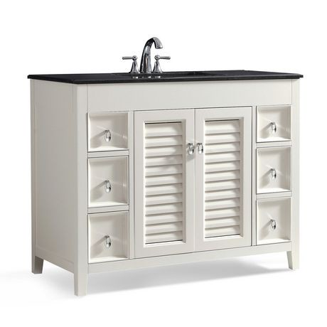 Palmer 42  Bath Vanity with Black Granite Top   Walmart ca. Bathroom Cabinets Walmart Ca. Home Design Ideas
