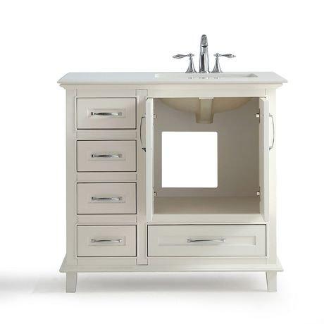 newton meuble lavabo 36 po avec dessus en marbre blanc de bombay walmart canada. Black Bedroom Furniture Sets. Home Design Ideas