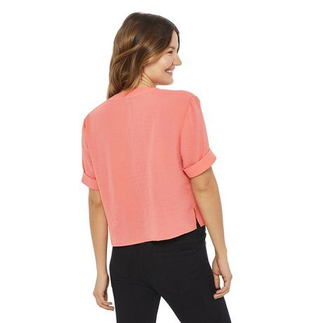 George Women's Button Front Boxy Shirt - image 3 of 6