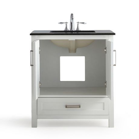 jersey meuble lavabo 30 po avec dessus en granit noir. Black Bedroom Furniture Sets. Home Design Ideas