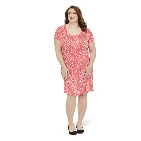 f04628610c1a George Plus Women s Short Sleeve Swing Dress - image 1 ...
