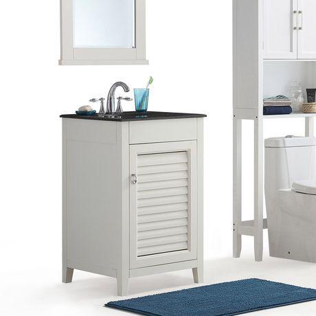 palmer meuble lavabo 20 po avec dessus en granit noir. Black Bedroom Furniture Sets. Home Design Ideas
