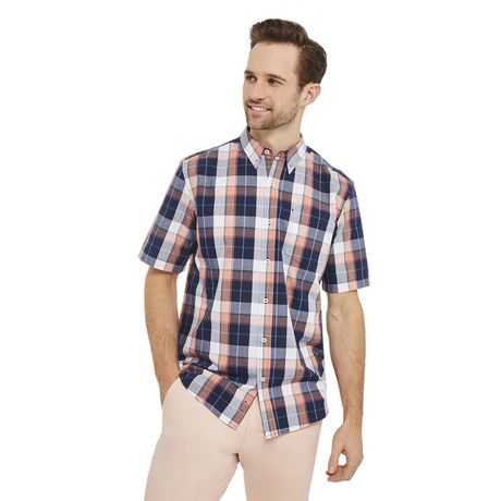 George Plus Men's Short Sleeve Button Up - image 1 of 6