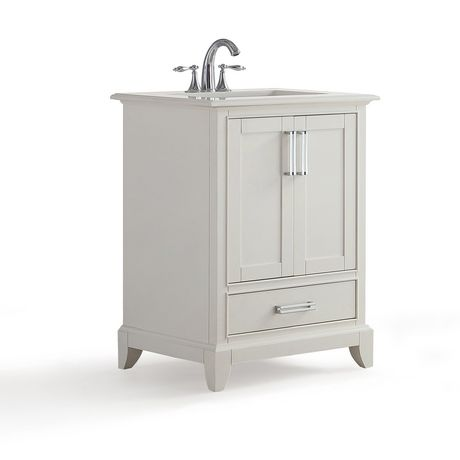 Atwood 24 Bath Vanity With Bombay White Quartz Marble Top