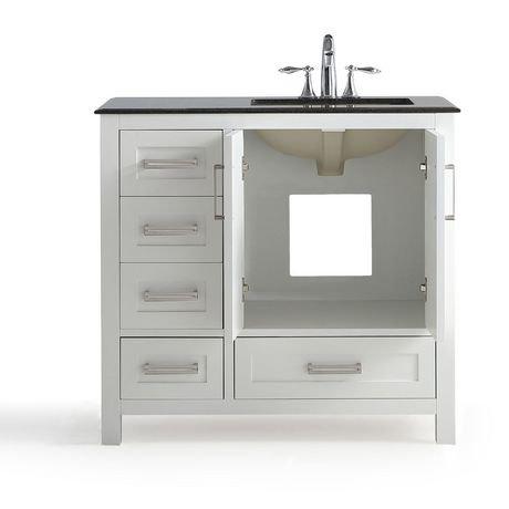jersey meuble lavabo 36 po avec dessus en granit noir. Black Bedroom Furniture Sets. Home Design Ideas