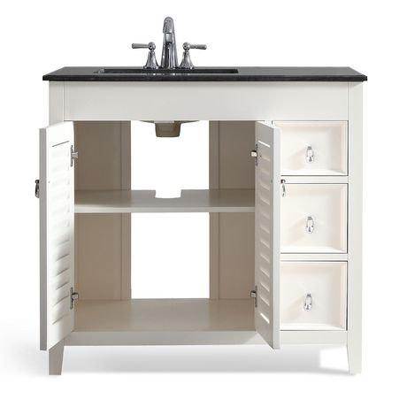 palmer meuble lavabo 36 po avec dessus en granit noir. Black Bedroom Furniture Sets. Home Design Ideas