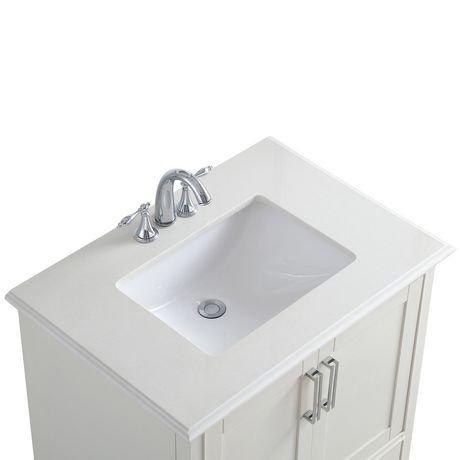 atwood meuble lavabo 30 po avec dessus en marbre blanc de bombay walmart canada. Black Bedroom Furniture Sets. Home Design Ideas