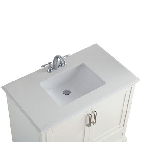 Wyndenhall Atwood 36 Quot Bath Vanity With Bombay White Quartz