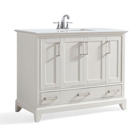 atwood meuble lavabo 42 po avec dessus en marbre blanc de bombay walmart canada. Black Bedroom Furniture Sets. Home Design Ideas