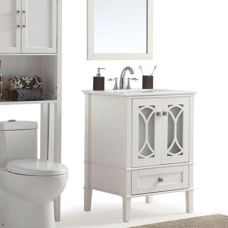 mulberry meuble lavabo 24 po avec dessus en marbre blanc walmart canada. Black Bedroom Furniture Sets. Home Design Ideas