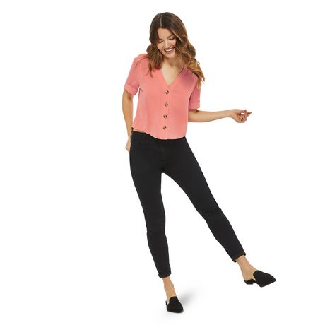 George Women's Button Front Boxy Shirt - image 5 of 6